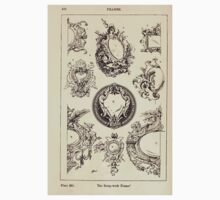 A Handbook Of Ornament With Three Hundred Plates Franz Sales Meyer 1896 0486 Frames Strap Work One Piece - Short Sleeve
