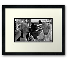 Time For A Chat? Framed Print