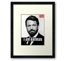 I am Batman Framed Print