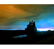 Whitby Abbey Blues Photographic Print