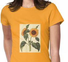 Yellow Sunflower Artwork Adaptation Womens Fitted T-Shirt