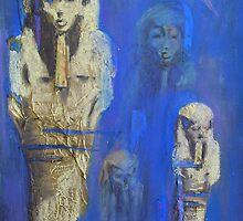 Portrait (Egyptian Statues) by Niki Hilsabeck