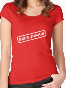 Beer Junkie Women's Fitted Scoop T-Shirt