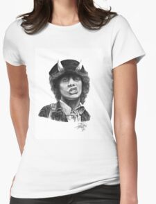 Angus Young Womens Fitted T-Shirt