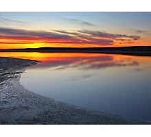 Lake in fire Photographic Print