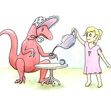 Tea Party with a Velociraptor  by Tim Gorichanaz