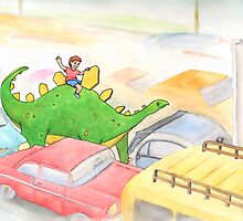 Traffic Jam with a Stegosaurus by Tim Gorichanaz