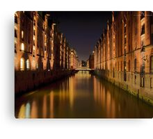 Speicherstadt in Hamburg Canvas Print