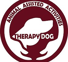 Animal Assisted Activities  - THERAPY DOG logo 1 red by SofiaYoushi