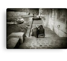 Lovers by the Seine Canvas Print