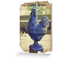 Faded Rooster Greeting Card