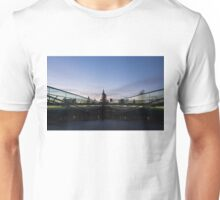 Even the Clouds Aligned with St Paul's Cathedral and the Millennium Bridge in London, UK Unisex T-Shirt