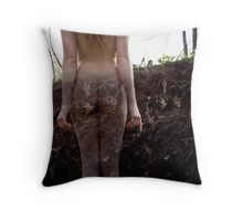 A Woman's Growth Throw Pillow