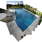 Swiming pool photo kaleidoscope by Goran Medjugorac