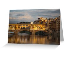 Ponte Vecchio reflection Greeting Card