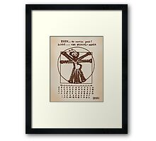 ZEEK the Martian geek ... aka Cattapan's Martian Framed Print
