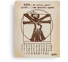 ZEEK the Martian geek ... aka Cattapan's Martian Canvas Print