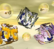 Butterfly Orbs by Sandra Bauser Digital Art