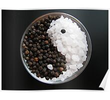 Salt and Pepper Yin and Yang Poster