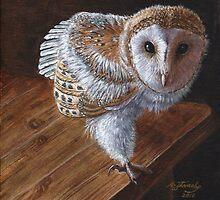 Baby Barn Owl by artbyakiko
