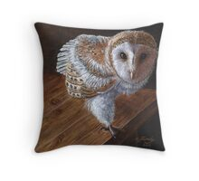 Baby Barn Owl Throw Pillow
