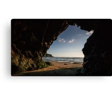 Sea Cave at Mawgan porth,North Cornwall Canvas Print