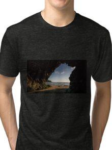 Sea Cave at Mawgan porth,North Cornwall Tri-blend T-Shirt