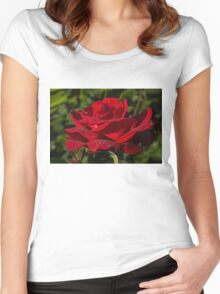 Of Red Roses and Diamonds  Women's Fitted Scoop T-Shirt