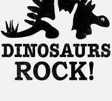 Dinosaurs Rock! by JurassicArt