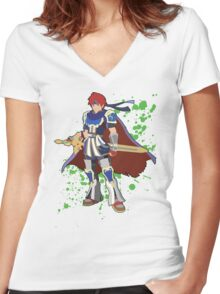 Roy - Super Smash Bros Women's Fitted V-Neck T-Shirt