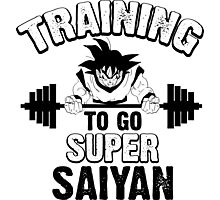 TRAINING TO GO SUPER SAIYAN 2 Photographic Print