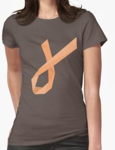 Geometric Womb Cancer Ribbon T-Shirt