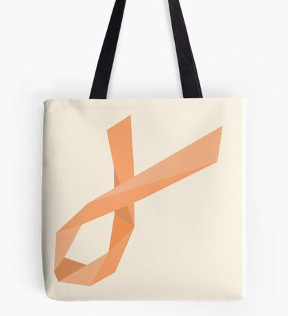 Geometric Womb Cancer Ribbon Tote Bag