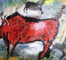 Brahma Bull by JenBrunoArt