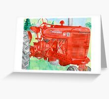grandpa's tractor Greeting Card