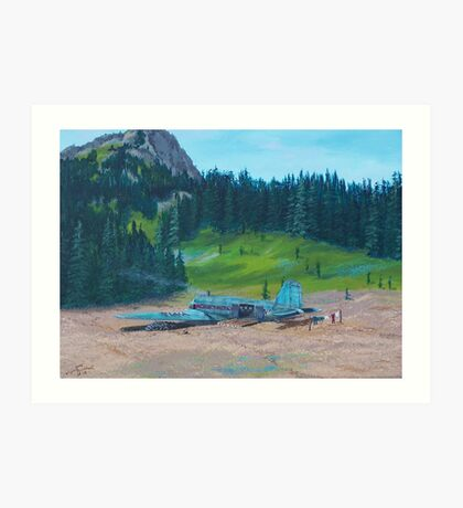 TWA Mountain Cabin Art Print