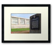 Quezon Memorial Circle Carvings 8 Framed Print