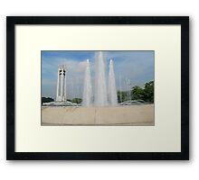 Quezon Memorial Circle fountain 13 Framed Print