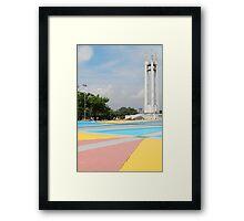 Quezon Memorial Circle monument 18 Framed Print
