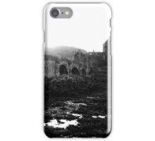 Eilean Donan (Highlander) castle black & white iPhone Case/Skin