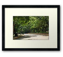 Quezon Memorial Circle pathway 20 Framed Print