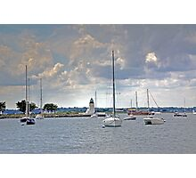 The Light at Goat Island Newport RI Photographic Print