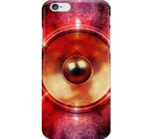 Music speaker and party lights iPhone Case/Skin