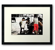 Quezon Memorial Circle monument activity: people praying 22 Framed Print