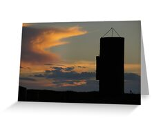 Silo against the sky Greeting Card