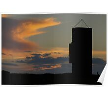 Silo against the sky Poster
