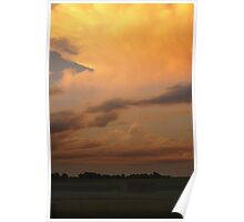 The golden clouds in Wakarusa Poster