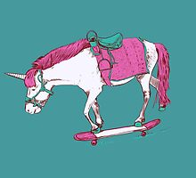 Unicorn on a Skateboard by Thomas Orrow