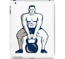 Athlete Weightlifter Lifting Kettlebell Retro iPad Case/Skin