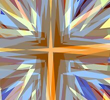Religious cross starburst pattern by steveball